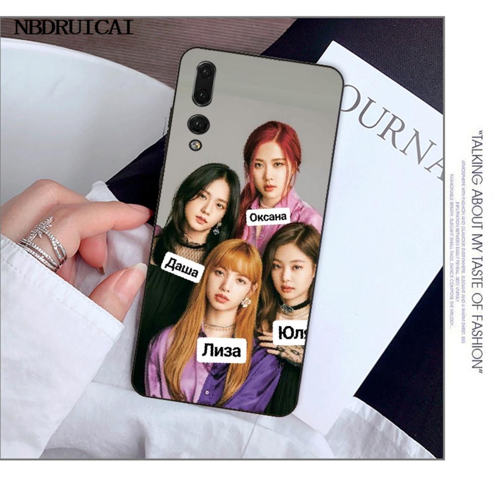 Nbdruicai Blackpink Kpop Collage Diy Luxe Telefoon Case Voor Huawei Y5 Y6 Y7 Y9 Prime 2019 Genieten 7 8 9 10 Plus