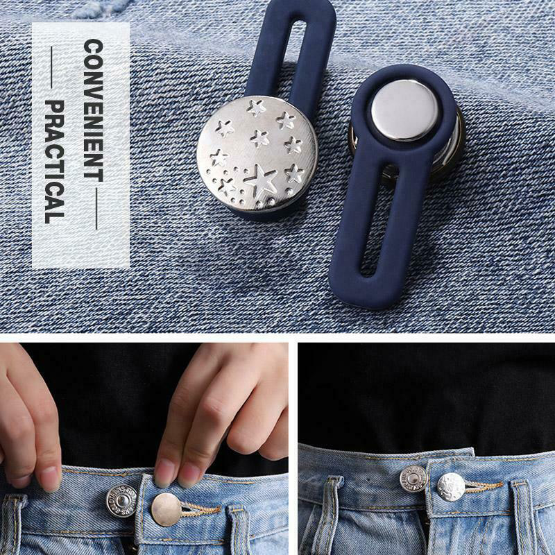 10pcs Jeans Retractable Button Adjustable Detachable Extended Button For Clothing Jeans FDC99