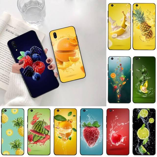 PENGHUWAN Fruits ananas fraise banane Luxe Téléphone Étui Pour Vivo Y91c Y17 Y51 Y67 Y55 Y7s Y81S Y19 V17 vivos5