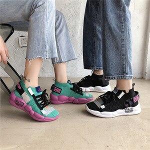 Image 4 - Scarpe per Gli Uomini Scarpe Da Ginnastica Casual Uomini Calzino Scarpa Amante Traspirante Tenis Masculino Adulto High Top Uomo scarpe Da Ginnastica Zapatos Hombre Sapatos