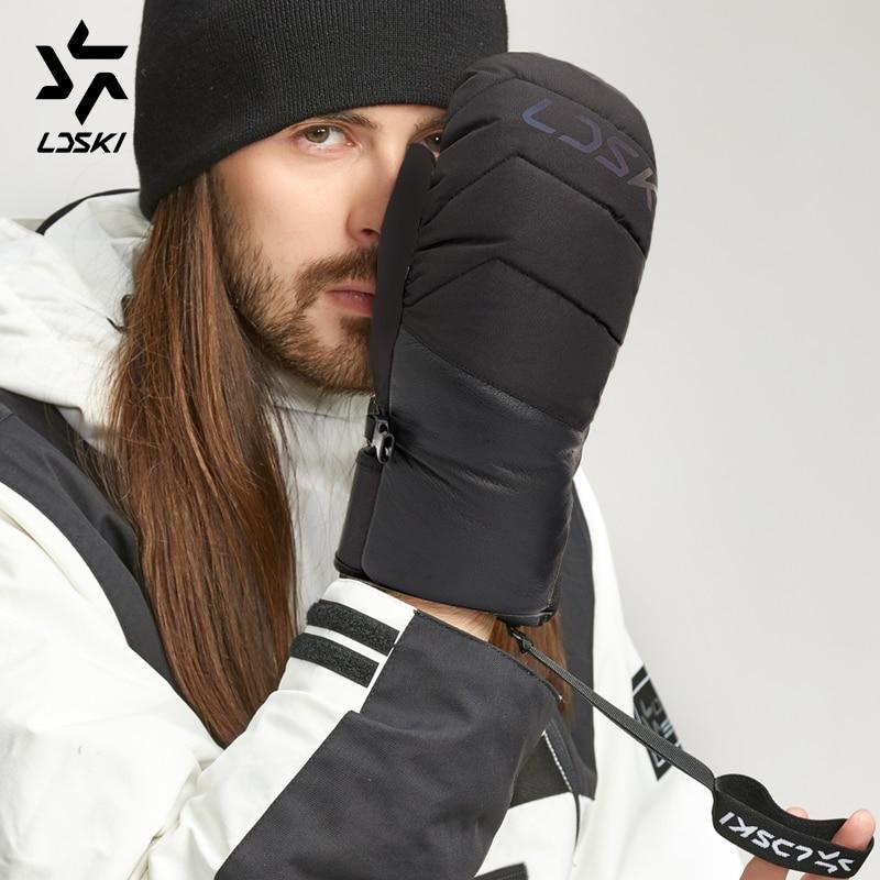 LDSKI Windproof Ski Gloves Thermal Winter Waterproof Snowboard  Gloves Down Outdoor Unisex