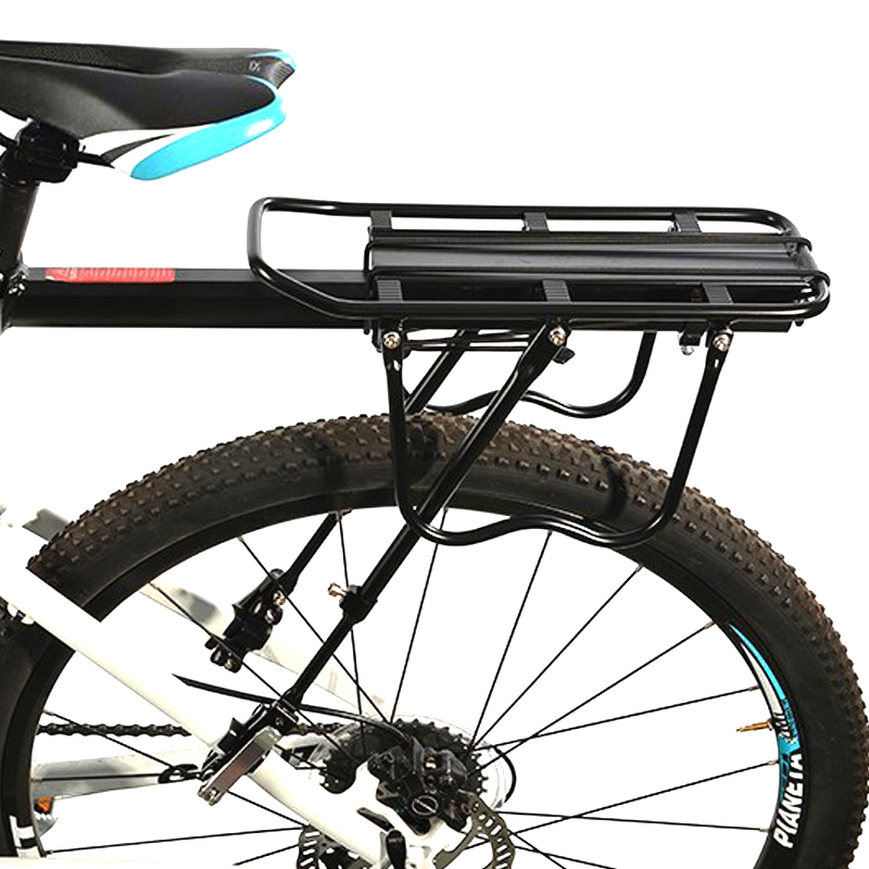 50KG Bicycle Luggage Carrier Bike Rack Aluminum Alloy Cargo Rear Rack Shelf Cycling Seatpost Bag Holder Stand MTB Install Tools