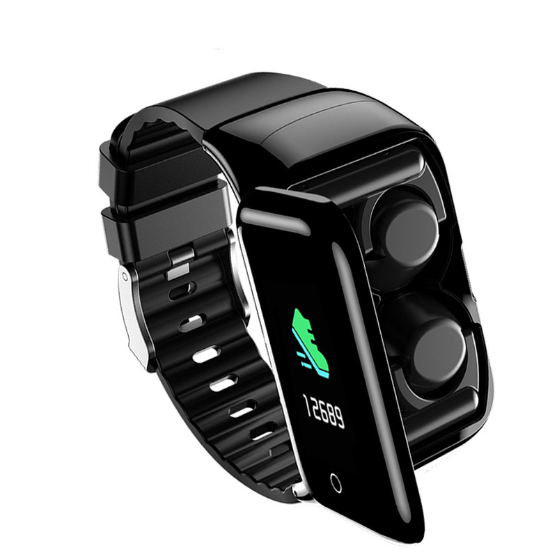 2020 M7 Newest Smart <font><b>Watch</b></font> with Bluetooth Earphones BT5.0 Heart Rate health Monitor Smart <font><b>Watch</b></font> Support Siri <font><b>BT</b></font> Call Smart Band image