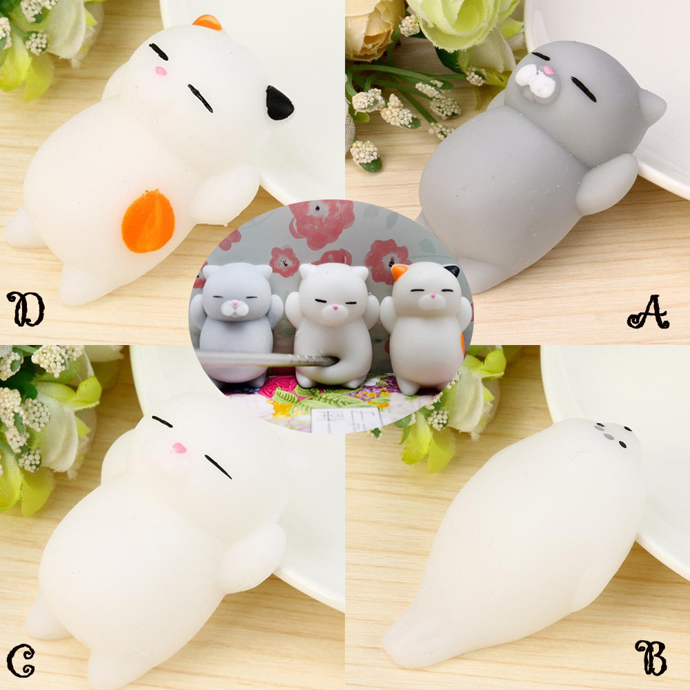Cute Mochi Squishy Cat Squeeze Healing Fun Kids Kawaii Toy Stress Reliever Decor Kids Toys Toys For Children Baby Toys Juguetes