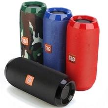 TG117 Portable Bluetooth Speaker 3D Wireless Speaker Waterproof Loudspeaker Support TF Card USB FM Radio Music Player Bass Box