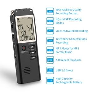 Image 2 - VR510 8 GB/16 GB/32 GB 보이스 레코더 USB Professional 96 시간 딕 터폰 WAV, MP3 플레이어가 장착 된 디지털 오디오 보이스 레코더