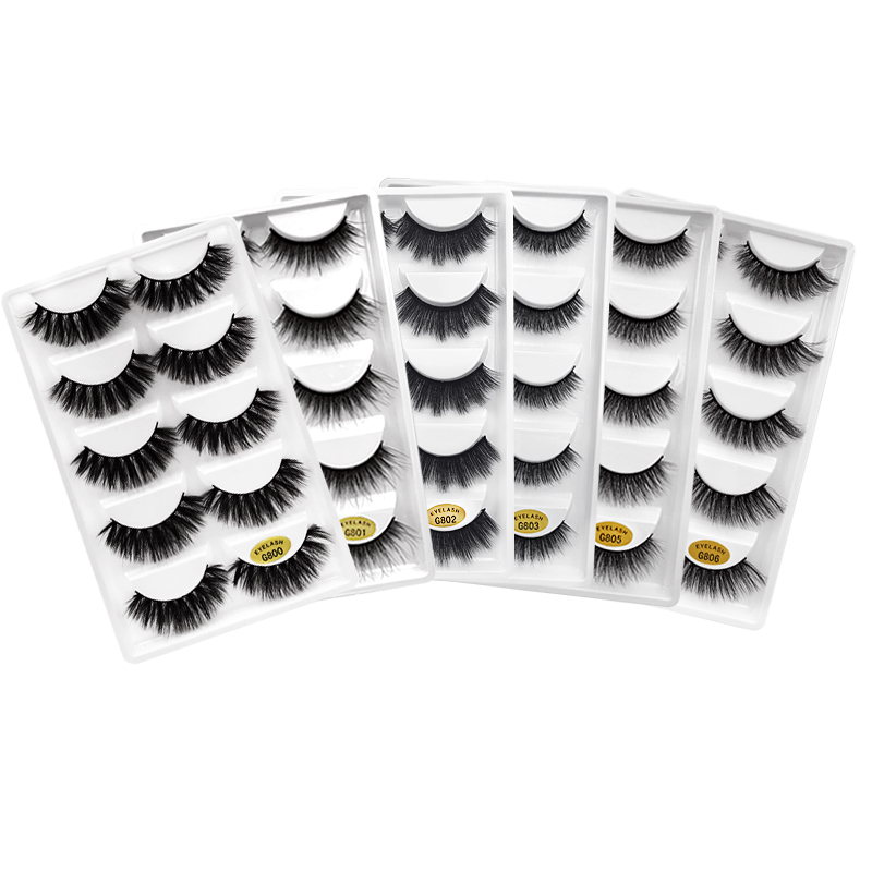 3D Lashes Mink Eyelashes Natural Long  Lashes Eyelashes Makeup Full Strip Lashes For Make Up Mink Cilios Maquiagem Faux Cils
