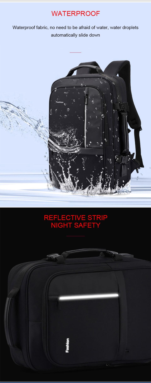Fashion Laptop Bags Business Men Backpack 15.6 Inch Notebook Travel USB Charging Waterproof Backpacking Male Women Smart Bagpack (8)