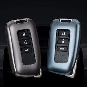 1 pièces alliage d'aluminium de haute qualité voiture clé Case couverture porte-clés voiture style pour for Lexus GS IS RX Nx