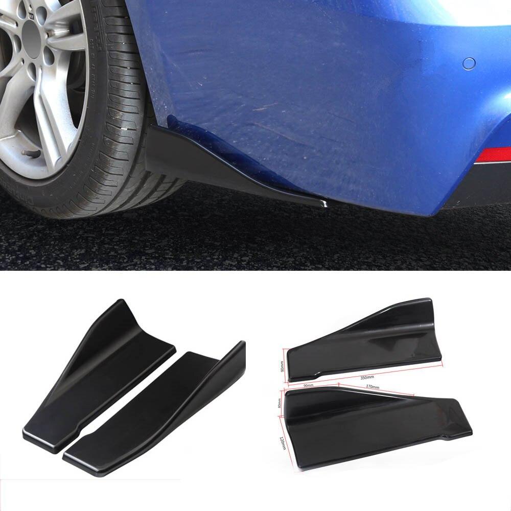 ABS Plastic Side Skirts Spoiler Lip Carbon Fiber Look Front Bumper Splitters