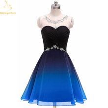 Bealegantom 2021 градиентное шифоновое короткое платье для выпускного
