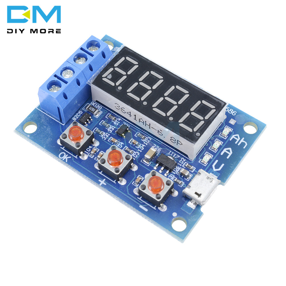 Power Battery Capacity Tester Module LED Digital Li-ION Lithium 18650 External Load Battery Discharge Testing Analyzer Board