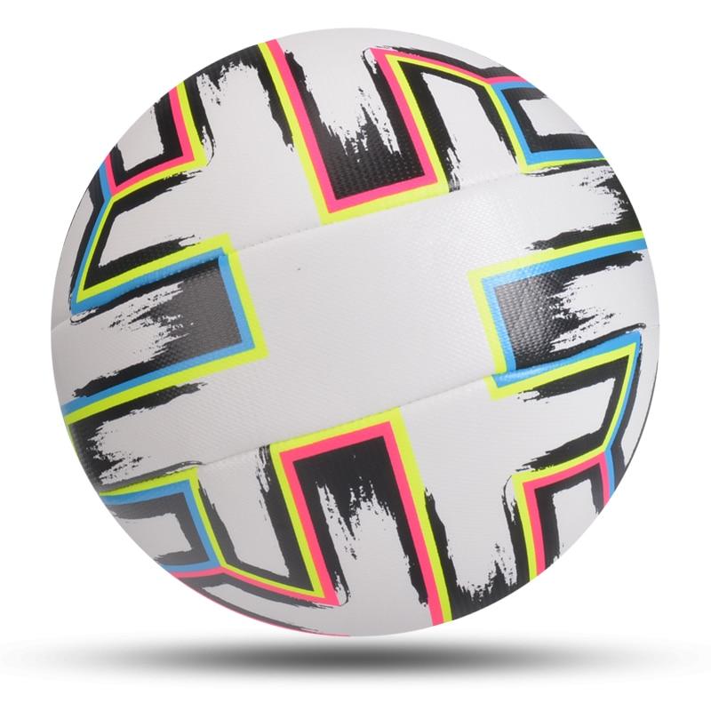 Najnowszy piłka do piłki nożnej standardowy rozmiar 5 maszyna szyte piłka nożna materiał PU sport liga mecz piłki treningowe futbol voetbal