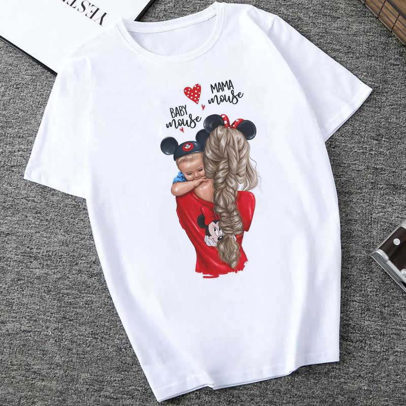 2019 Summer Mother's Day Harajuku Kawaii Super Mom T-shirt White  Fashion Vogue T Shirt Plus Size S-2XL Leisure T Shirt Women
