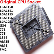 LGA 1150, 1151, 1155, 1156, 2011 G34 771, 775 de 1366 AM3B AM4 FM2 placa base de soldadura BGA CPU Socket titular con estaño bolas(China)