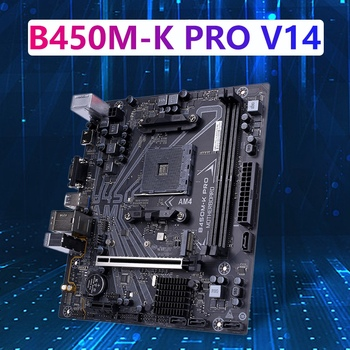 COLORFUL B450M-K PRO V14 Motherboard Dual Channel DDR4 2400/213HZ SATA 6Gb/S for AMD AM4 Socket 3000 Series Processors image