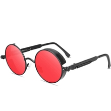 2020 Retro Fashion Round Lenses Sunglasses Metal Frame Spring Metal Temple Women