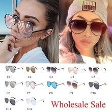 Wholesale Sale Women Pilot Sunglasses Luxury Fashion Black Eyewear Shades for wo
