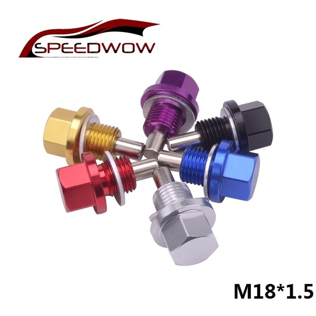 SPEEDWOW M18*1.5 Magnetic Oil Sump Nut Drain Oil Plug Screw Oil Drain Engine Nut