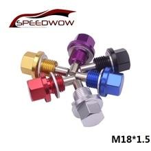 SPEEDWOW tuerca del colector del aceite magnético M18 * 1,5, aceite de drenaje con cabezal para tornillos, tuerca del motor de drenaje de aceite
