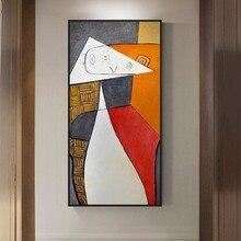 Pinturas al óleo sobre lienzo abstractas del famoso Picasso, reproducciones de arte, carteles de pared e impresiones, imágenes colgantes para sala de estar