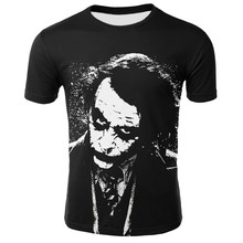 Zomer Clown 3D T-shirt Mannen Joker Gezicht T-shirt Casual Korte Mouw Hip Hop Tops Tee Streetwear Grappig Joker 3D Bedrukte T Shirts(China)