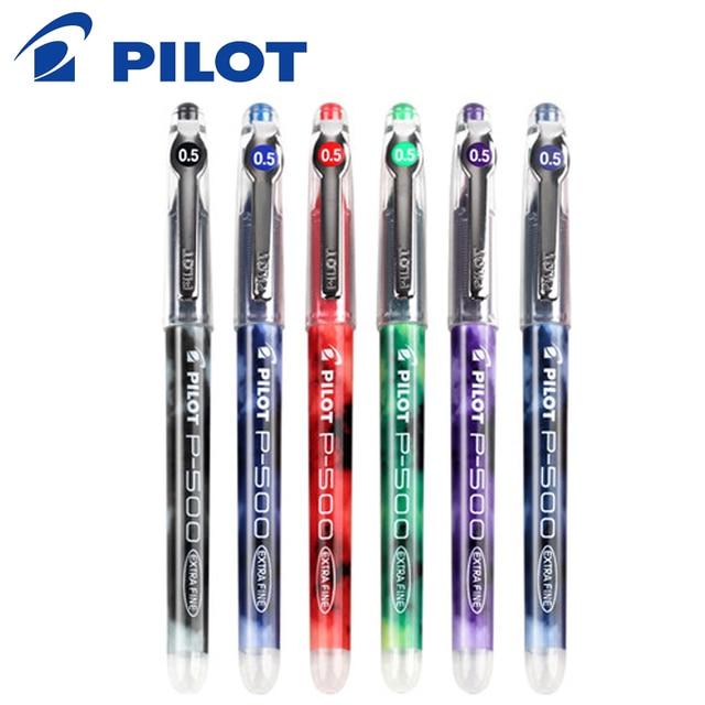 12 pcs Pilot Pens Set Pilot Precise P 500 Gel Ink Rolling Ball Pens 0.5 mm Roller Extra Fine Point Black Color Ink