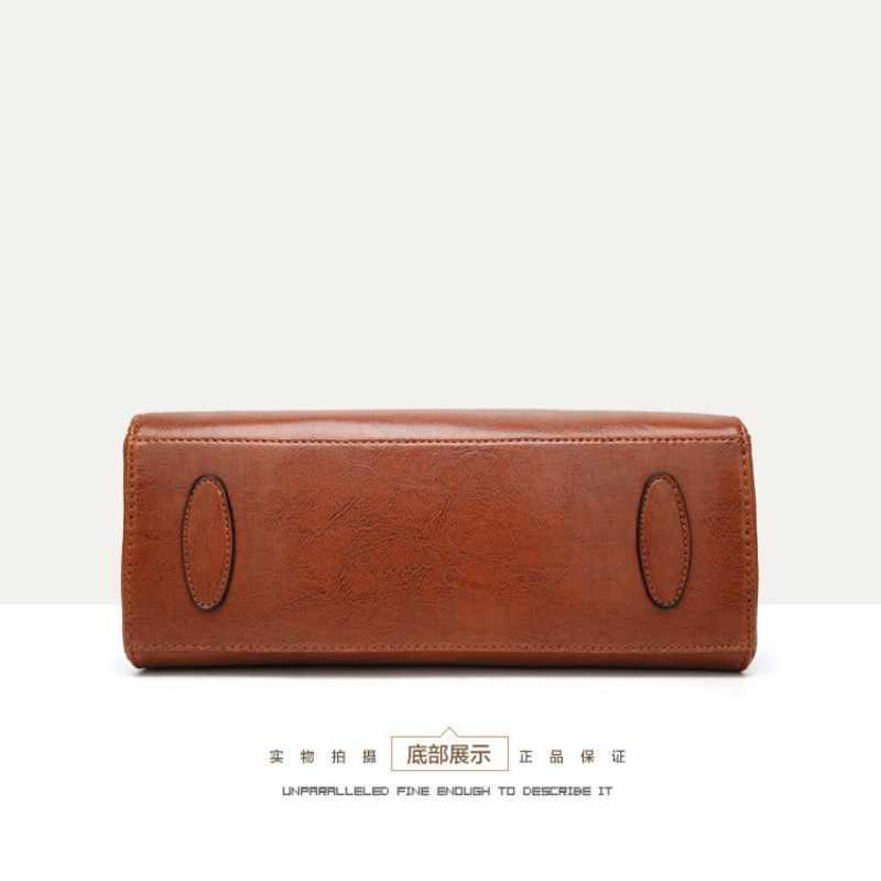 100% Del cuoio Genuino borse Delle Donne 2019 Nuove borse di Cross-border merci borsa Semplice Signora Messaggero della Cartella della Spalla