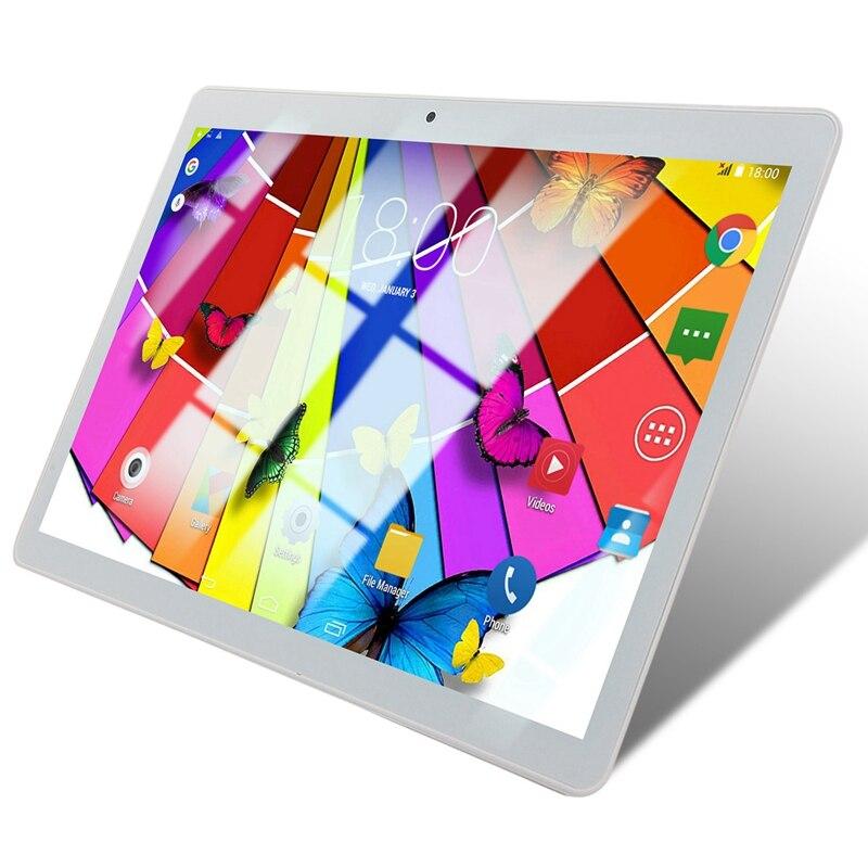 10.1 Inch Tablet Pc Quad Core Powerful Android 1GB RAM 16GB ROM IPS Dual SIM Phone Call Tab Phone Pc Tablets Silver EU Plug