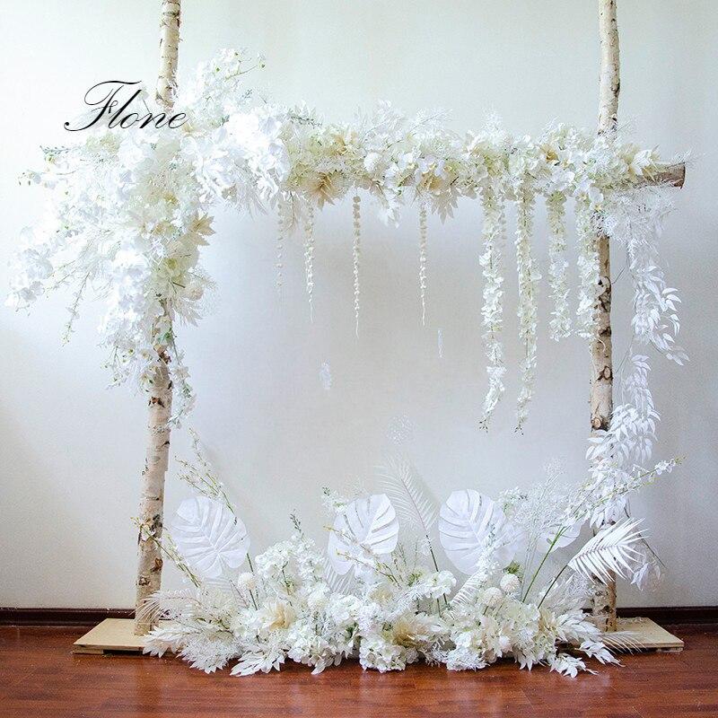 Свадебная белая тема Цветочная композиция Искусственные цветы для свадебной арки сценическая фоновая Декорация