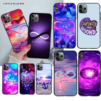 HPCHCJHM infinity on purple love Soft Silicone TPU Phone Cover for iPhone 11 pro XS MAX 8 7 6 6S Plus X 5S SE 2020 XR case image