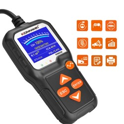 KW650 Car Battery Tester 12V 100 to 2000CCA 12 Volts Battery tools for the Car Quick Cranking Charging Diagnostic