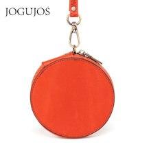 Новый дизайн Круглый кошелек jogujos из натуральной кожи для