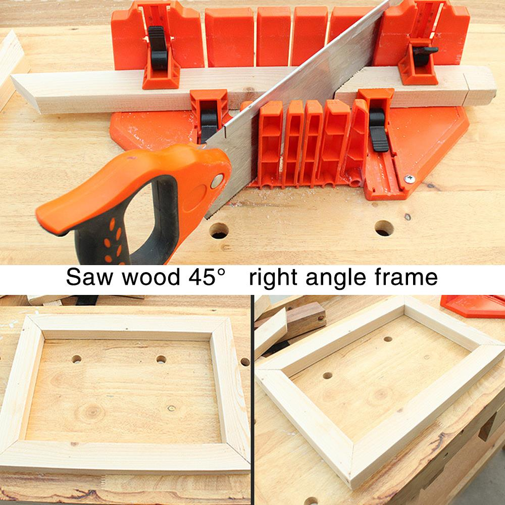 3 Specifications Practical Multipurpose Woodworking Miter Saw Wood Tool Durable Clamping Mitre Box Miter Groove ABS Plastic