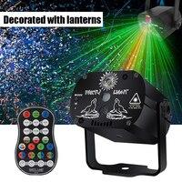 Illuminazione da discoteca Laser Show Set di scatole Laser proiettore di scansione RGB remoto Led stroboscopico lampada per illuminazione da palcoscenico per luci per feste di natale