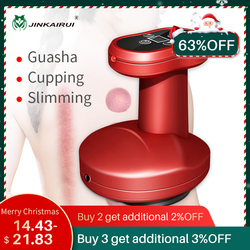 Electric Cupping Massage Guasha Suction Scraping Massager Body  Device Negative Pressure Meridian Dredge Body Slim Physiotherapy