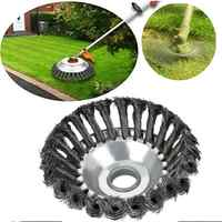 """6"""" 8"""" Steel Wire Trimmer Head Grass Brush Cutter Dust Removal Grass Plate for Lawnmower Universal Fit Straight Shaft Trimmer"""