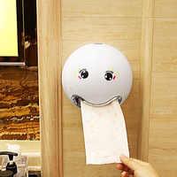 الإبداعية لطيف الكرتون مستديرة الكرة على شكل الأنسجة صندوق لفة ورقة التخزين المنظم الحمام غرفة نوم الجدار ملصق صناديق ورق التواليت