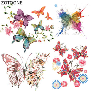 ZOTOONE Ironing Butterfly Patches for Clothing Heat Transfers Print Thermo Stickers Kids Flower Patch T-shirt Dresses F