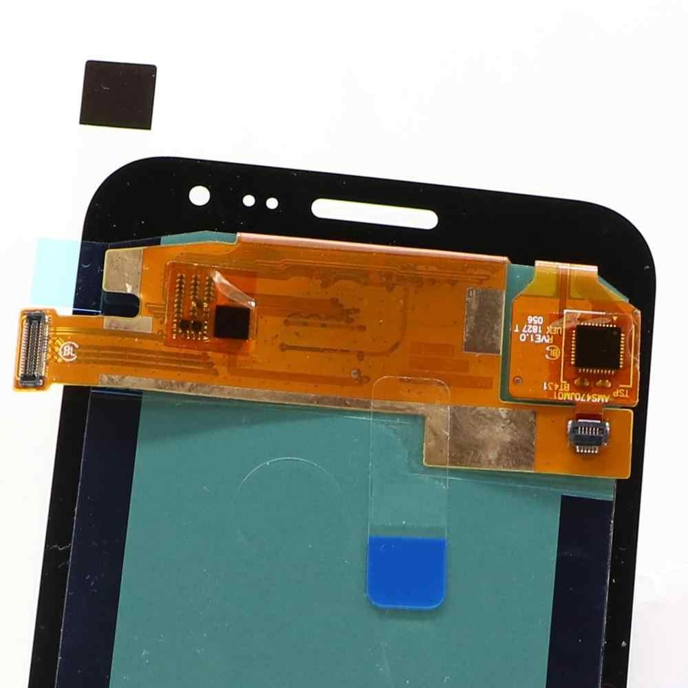 AMOLED لسامسونج غالاكسي LCD J2 2015 J200F J200M J200H شاشة الكريستال السائل محول الأرقام اللمس شاشة مكون مع سطوع التحكم