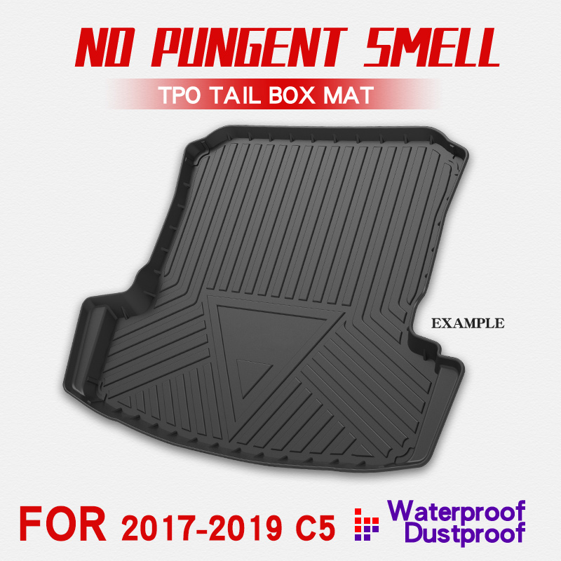 For Citroen Aircross C5  2017-2019 Boot Mat Rear Trunk Liner Cargo Floor Tray Carpet Mud Kick Protector Car Accessories