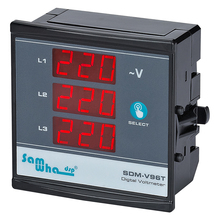 Samwha-Dsp SDM-V96T Digital Three Phase Voltmeter, Shows Phase Sequence, Slim Compact, LED Panel Meter