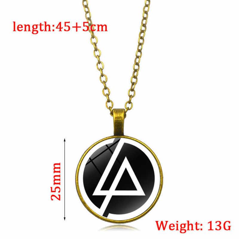 Nouveau femmes hommes lueur dans le noir collier classique collier lumineux bijoux breloque Lincoln bande Logo en alliage de verre pendentif collier