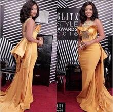 Элегантные золотые платья знаменитостей с красной ковровой дорожкой