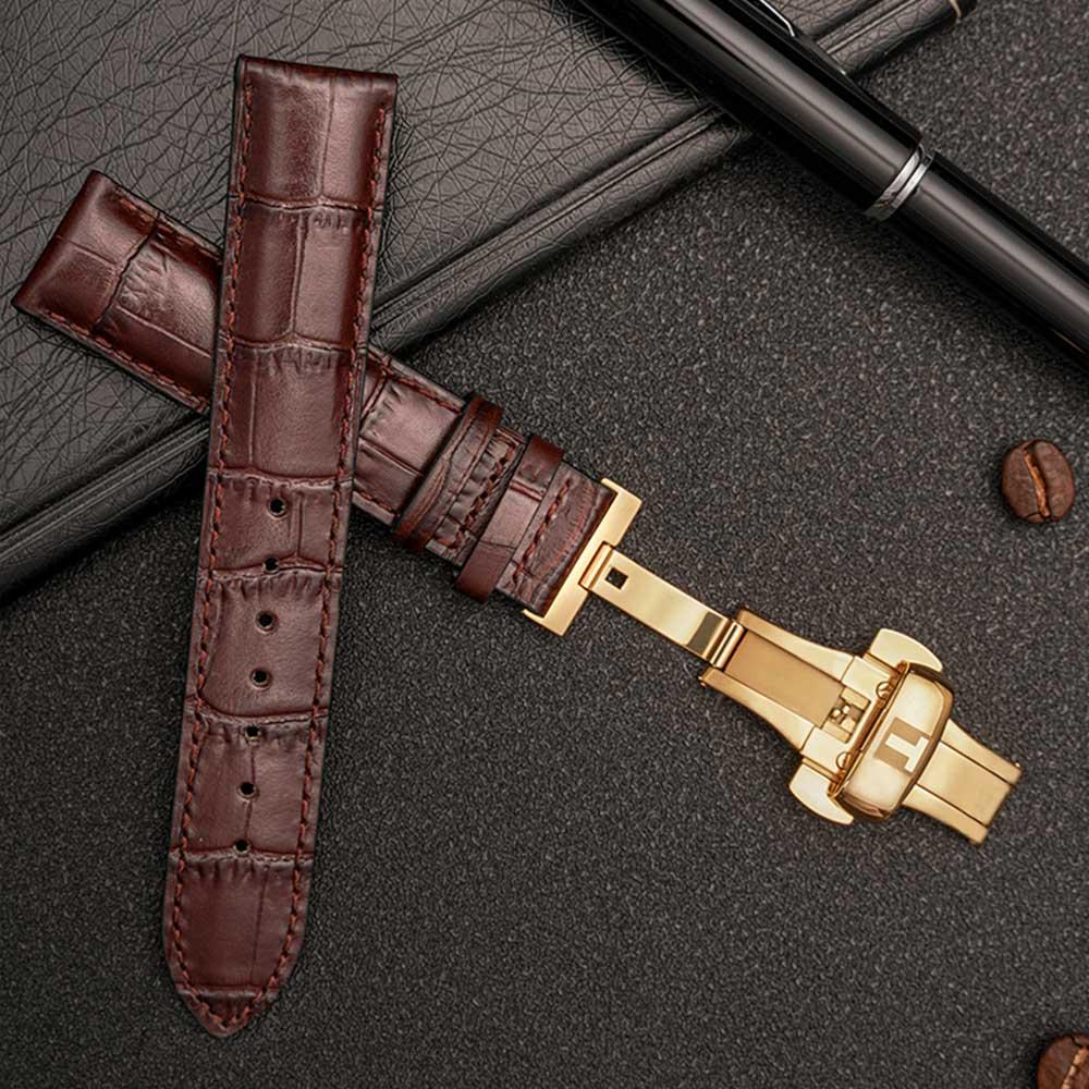 OT Для мужчин G ремешки для часов 19/20/21/22 мм Бабочка Пряжка заменитель для Tissot часы кожаный ремешок Для мужчин и Для женщин
