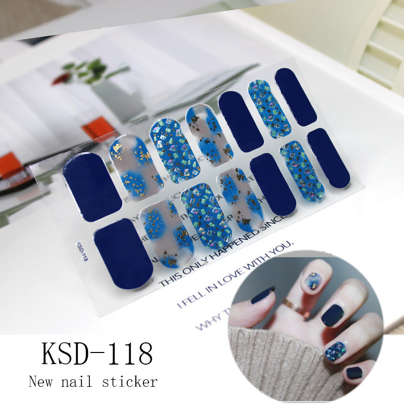 2019 New Stickers Glitter KSD Series Irregular Sequins Nail Decals Full Cover Adhesive Nail Art Stickers Manicure for Kids Women in Stickers Decals from Beauty Health