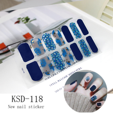 цена на 2019 New Stickers Glitter KSD Series Irregular Sequins Nail Decals Full Cover Adhesive Nail Art Stickers Manicure for Kids Women