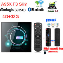 A95X F3 Slim Android 9.0 TV Box Amlogic S905X3 Smart Set Top Box 2.4G 5G Wifi BT4.1 8K Google Media Player 4GB 32GB(Canada)