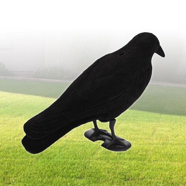 Fake Bird Hunting Creative Realistic PE Black Yard Decor Scarecrow Garden Target Pest Outdoors Trap Crow Decoy 5