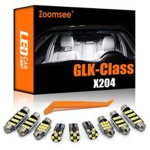 Zoomsee 17 Uds Canbus para Mercedes-Benz MB GLK clase X204 2008-2015 GLK220 GLK300 GLK350 bombilla LED Interior Domo Luz de mapa Kit